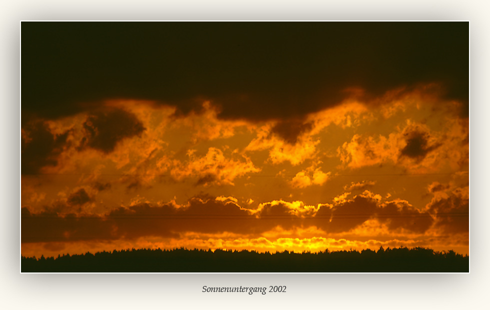 Sonnenuntergang 2002