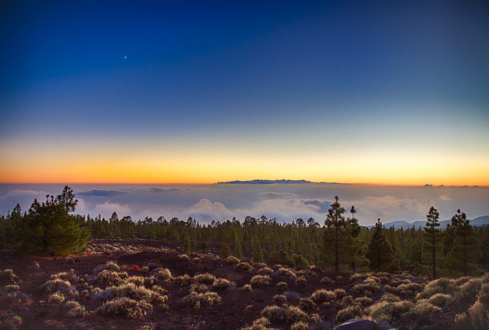 Sonnenuntergang a, Teide