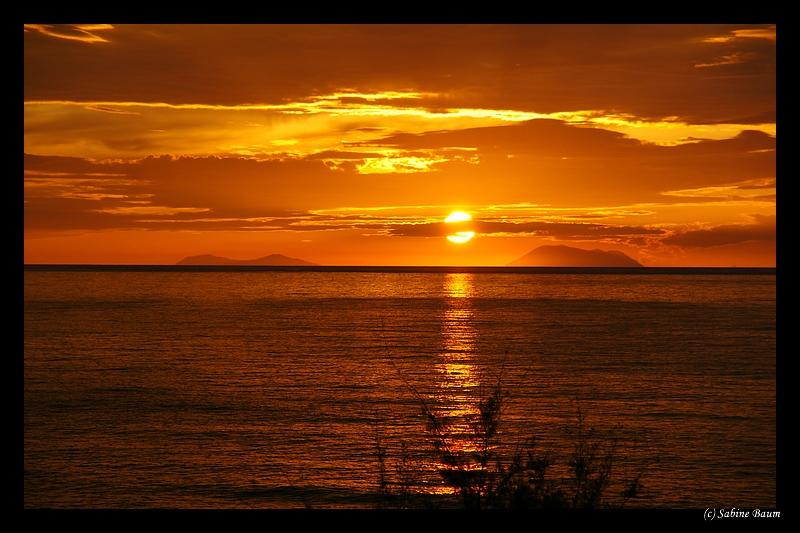 Sonnenuntergang Äolische Inseln