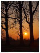 Sonnenuntergang Aicha an der Donau