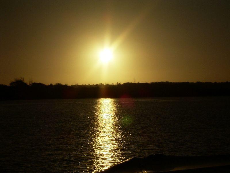 Sonnenuntergang allerdings in Südafrika Ostküste