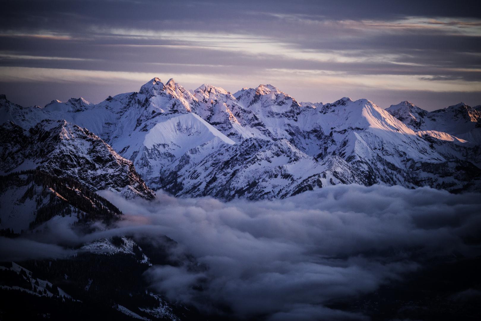 Sonnenuntergang Allgäuer Alpen