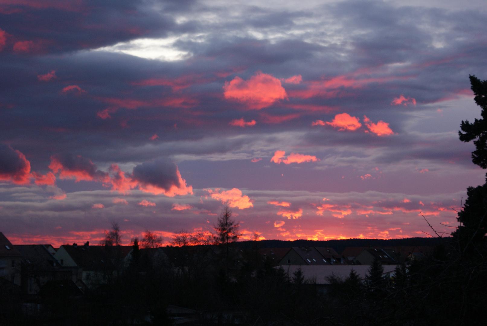 """""""Sonnenuntergang am 1. Weihnachtsfeiertag 2009 in Guben"""""""
