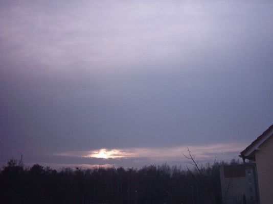 sonnenuntergang am 13.03.04 in Dresden/sachsen