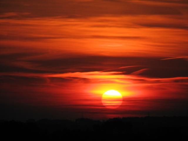 Sonnenuntergang am 18.Juni 2008