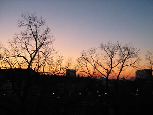 Sonnenuntergang am 19.02.2008