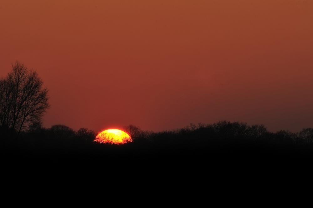 Sonnenuntergang am 21. Februar