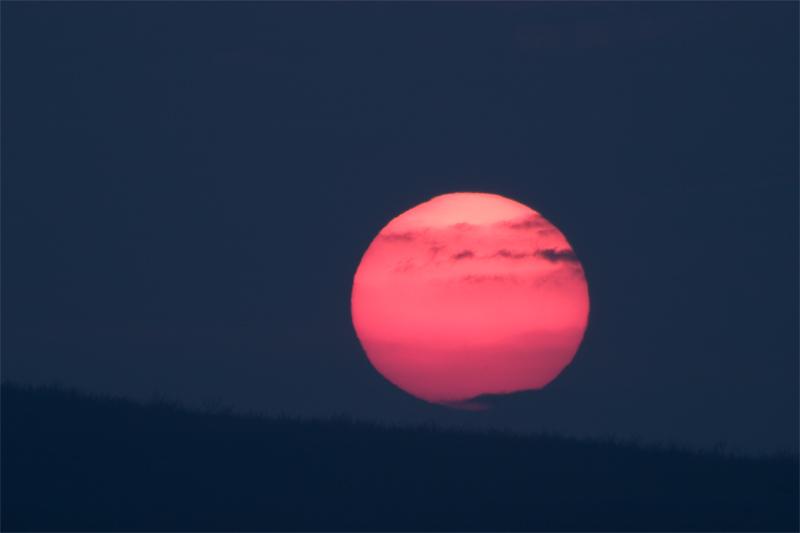 Sonnenuntergang am 23.03.2005