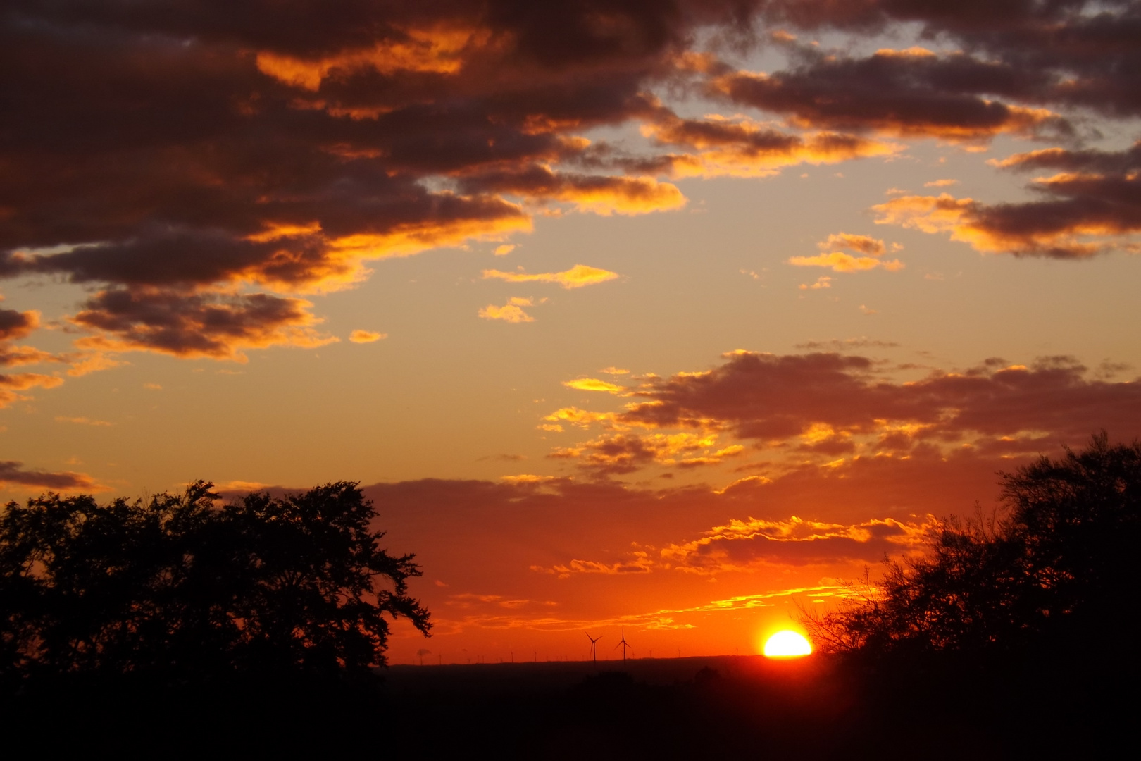 Sonnenuntergang am 26.10.2013