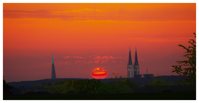 Sonnenuntergang am 27.5.05