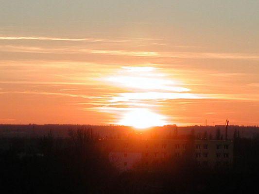 Sonnenuntergang am 29.01.2002 in Merseburg