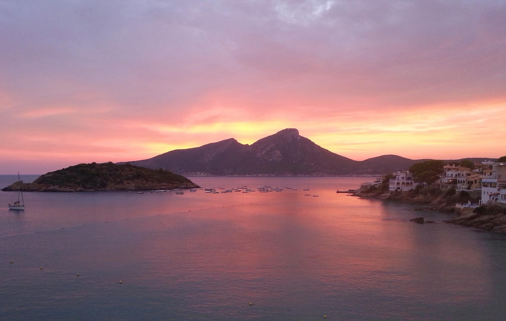 Sonnenuntergang am 30.08.2013 in San Telm