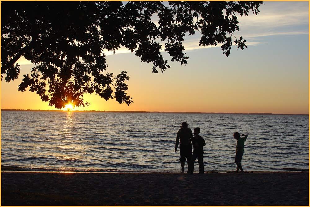 Sonnenuntergang am Achterwasser auf Usedom