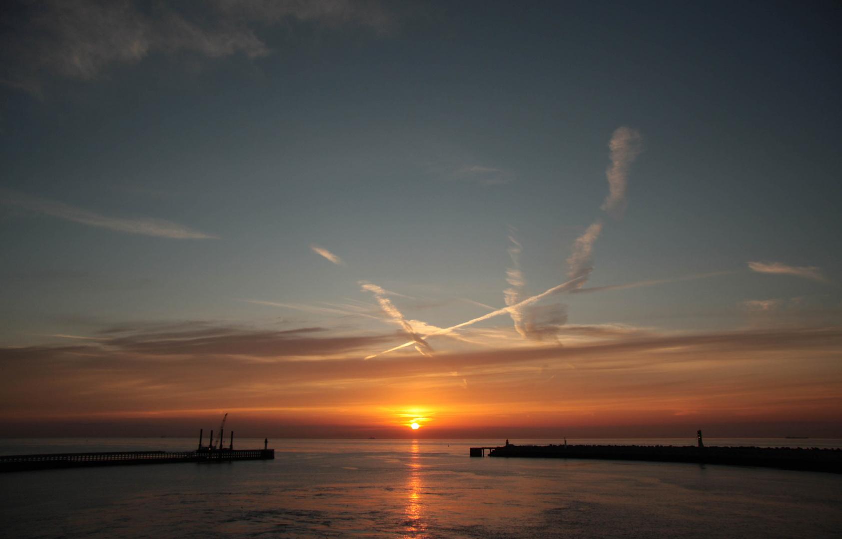 Sonnenuntergang am Ärmelkanal
