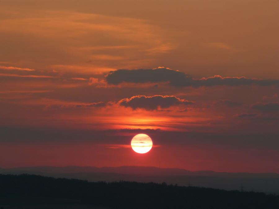 Sonnenuntergang am Albrand