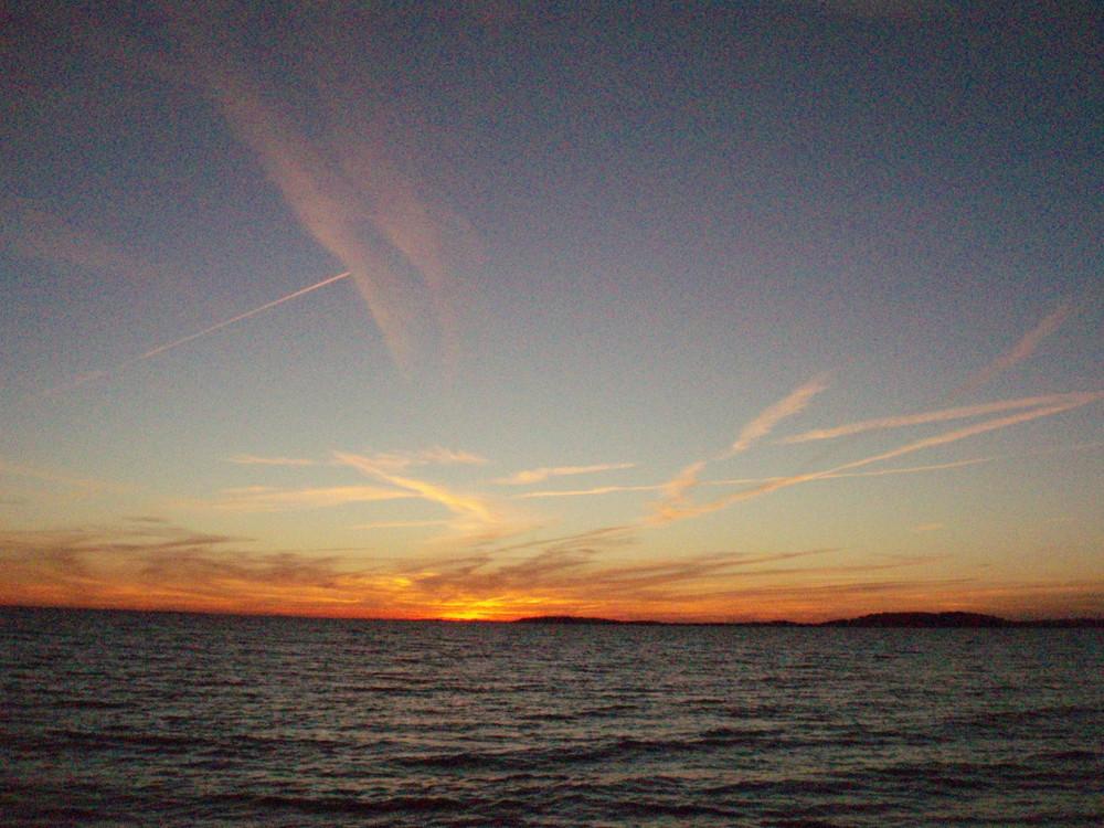 Sonnenuntergang am Alt Reddevitzer Steilufer