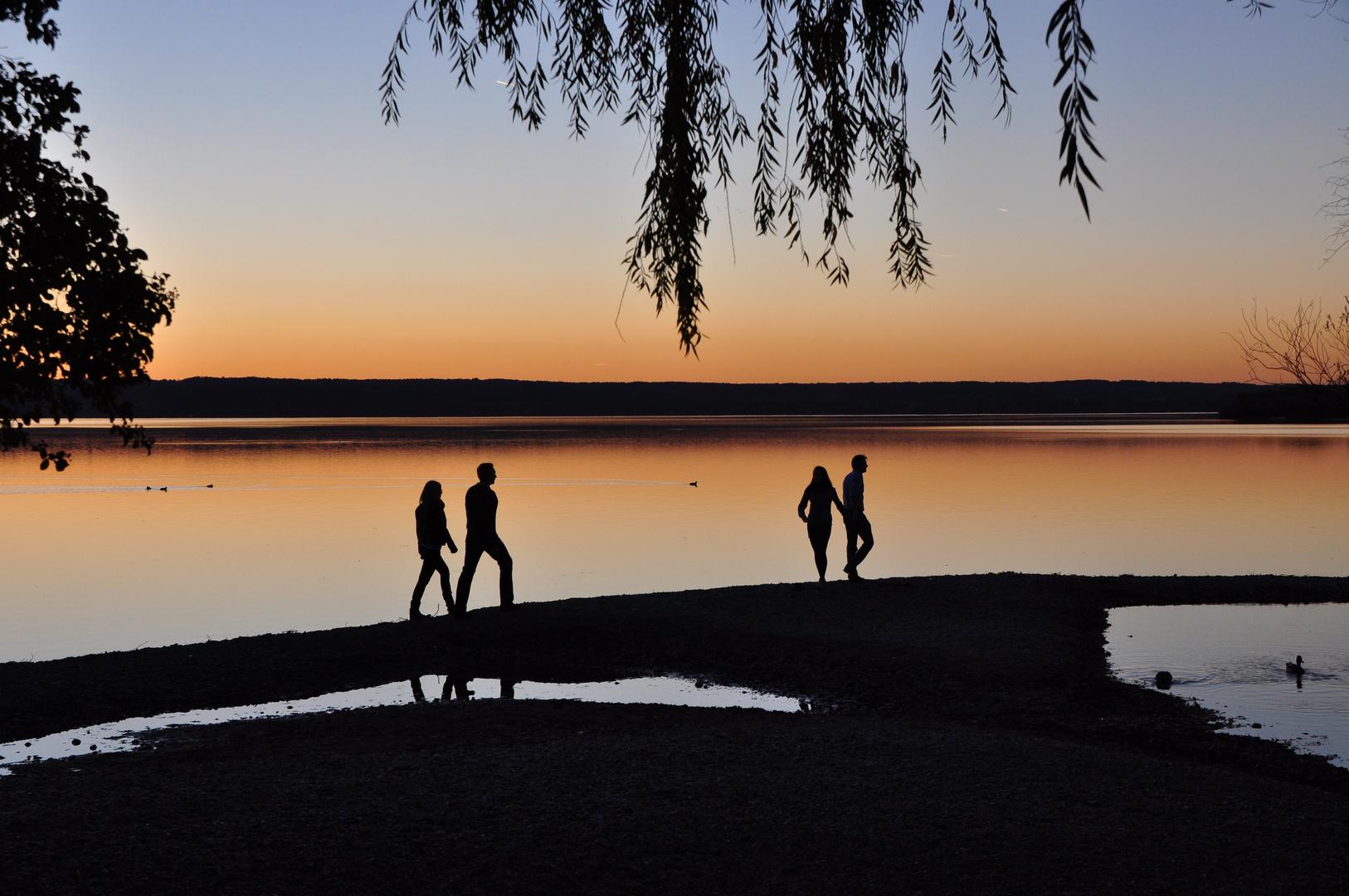 Sonnenuntergang am Ammersee, Bayern 115