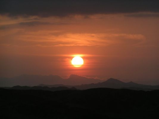 Sonnenuntergang am anderen Ende der Welt