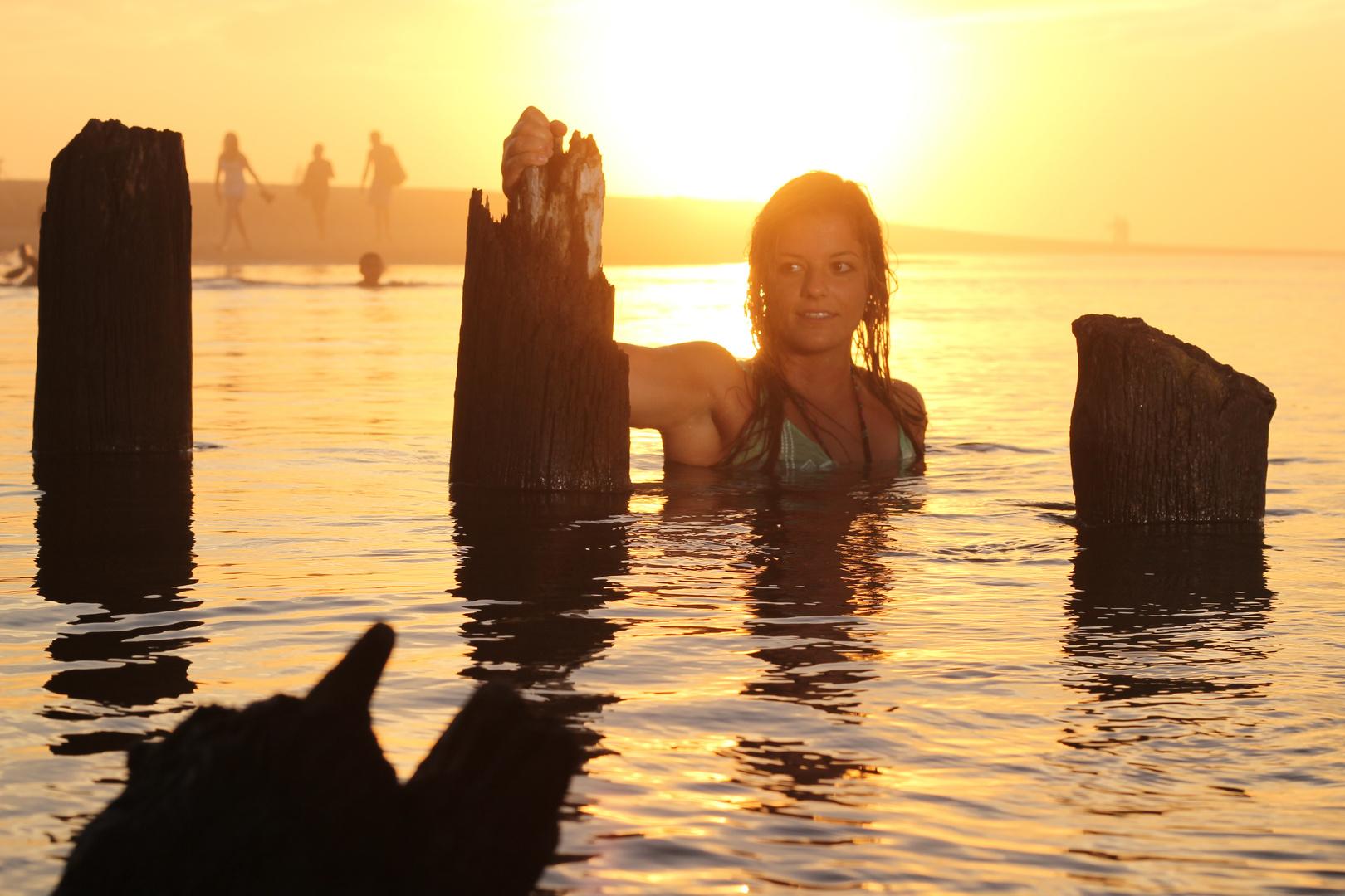 Sonnenuntergang am Atlantik - Moliets et Maa
