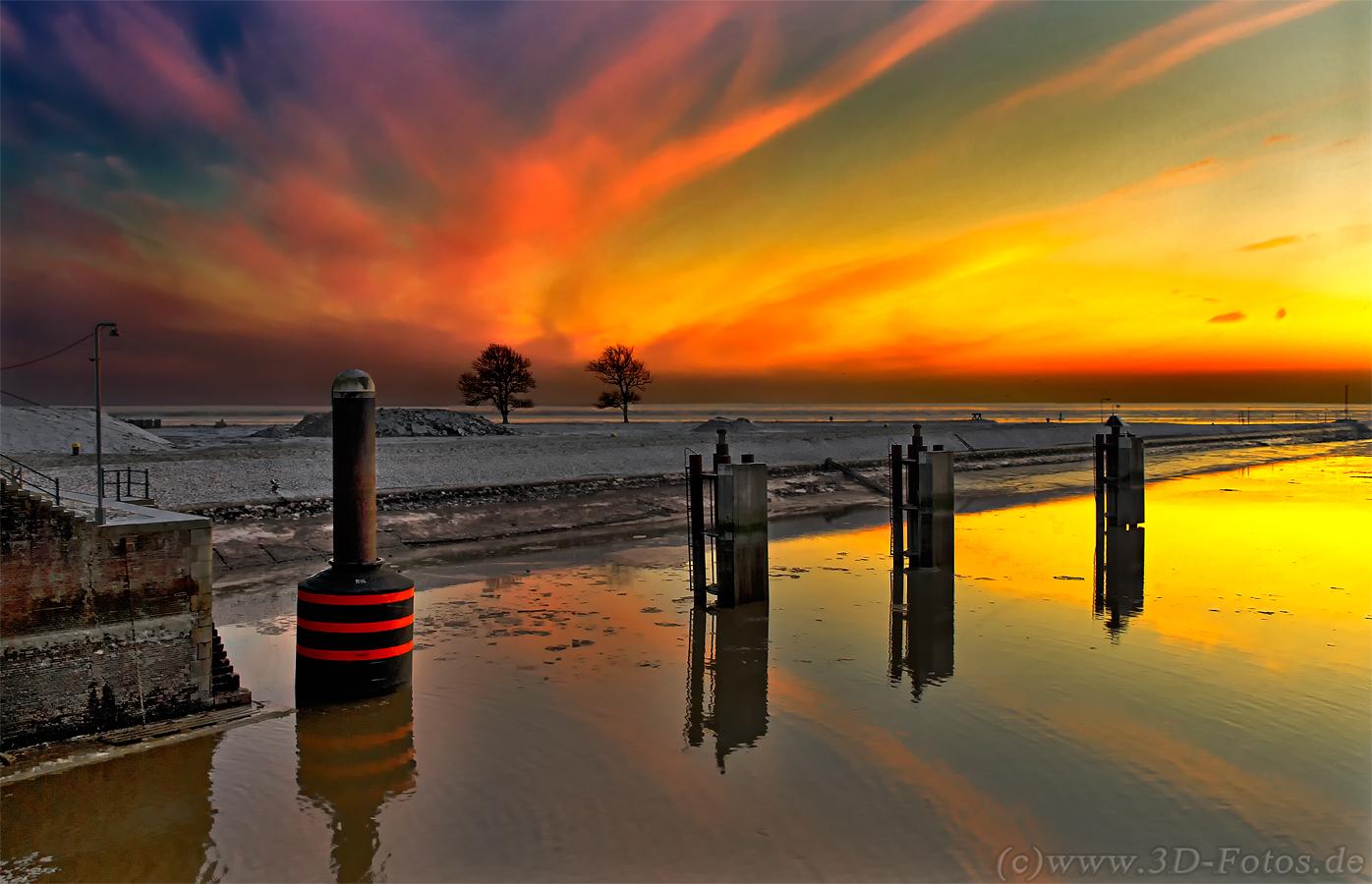 Sonnenuntergang am Außenhafen