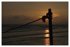 Sonnenuntergang am Badestrand