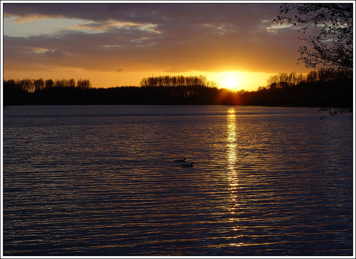 Sonnenuntergang am Baggerloch