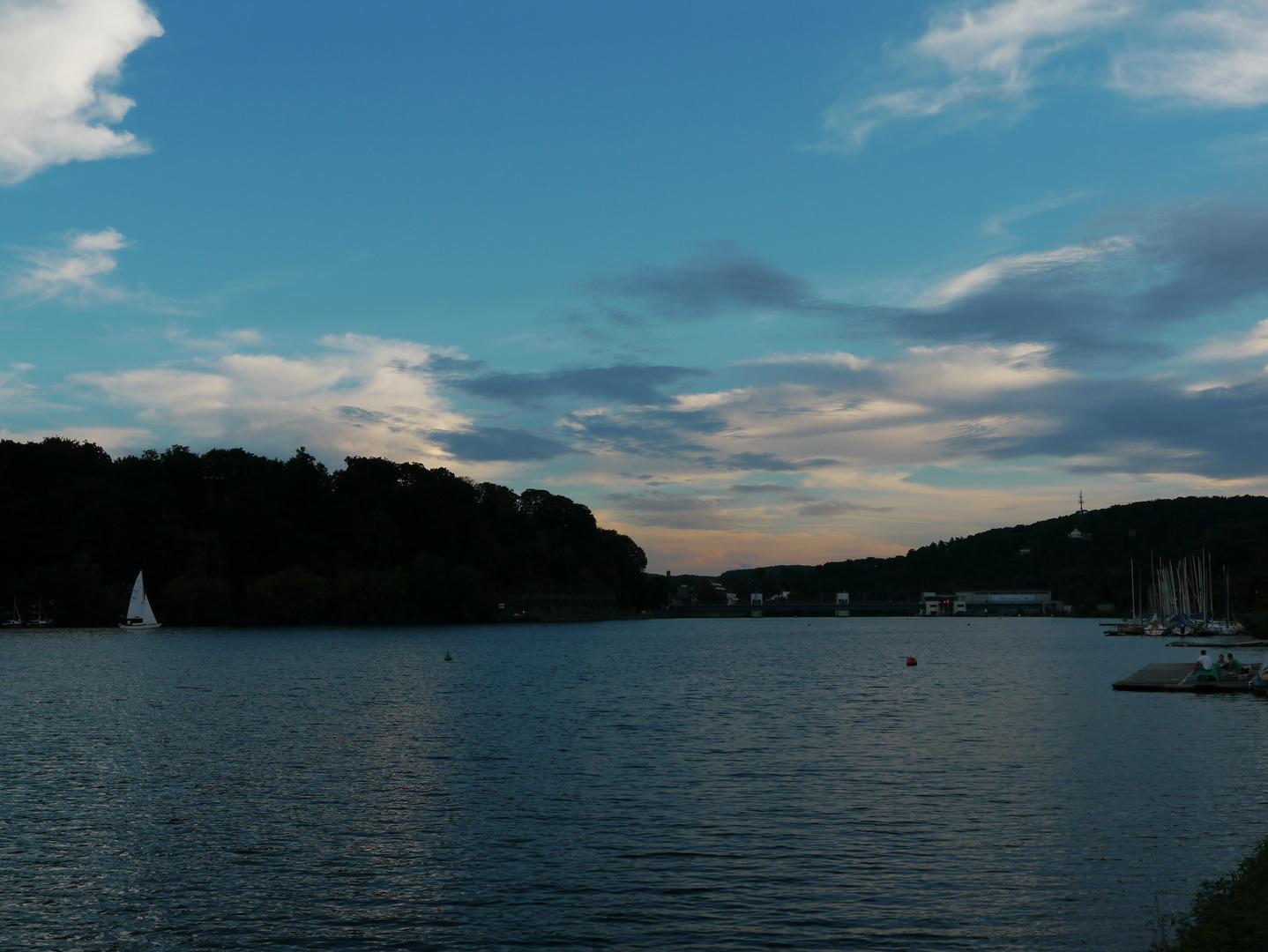 Sonnenuntergang am Baldeneysee