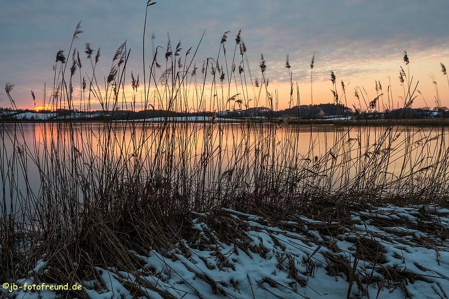 Sonnenuntergang am Binnensee in Neustadt in Holstein
