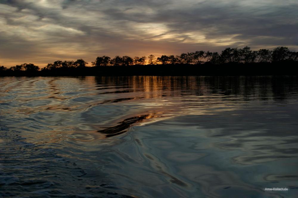 Sonnenuntergang am Bodden (Zingst)