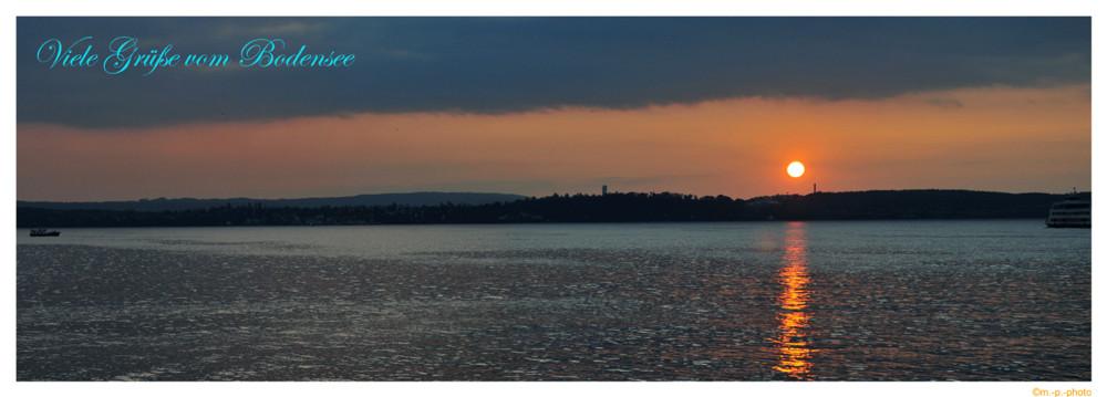 Sonnenuntergang am Bodensee 2009
