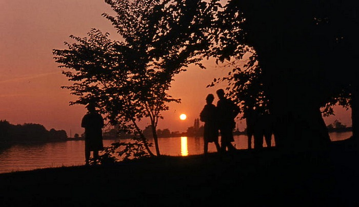 Sonnenuntergang am Bodensee.....