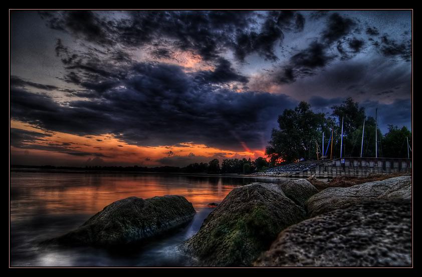 Sonnenuntergang am Bodensee (reloaded)