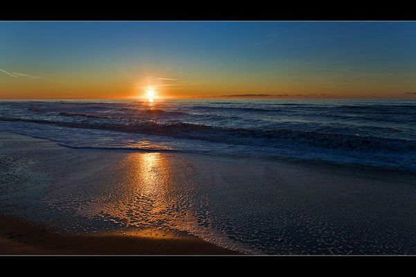 Sonnenuntergang am Bovbjerg Strand DK