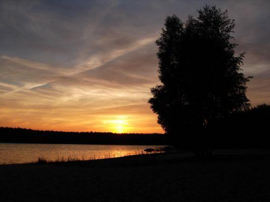 Sonnenuntergang am Briesensee