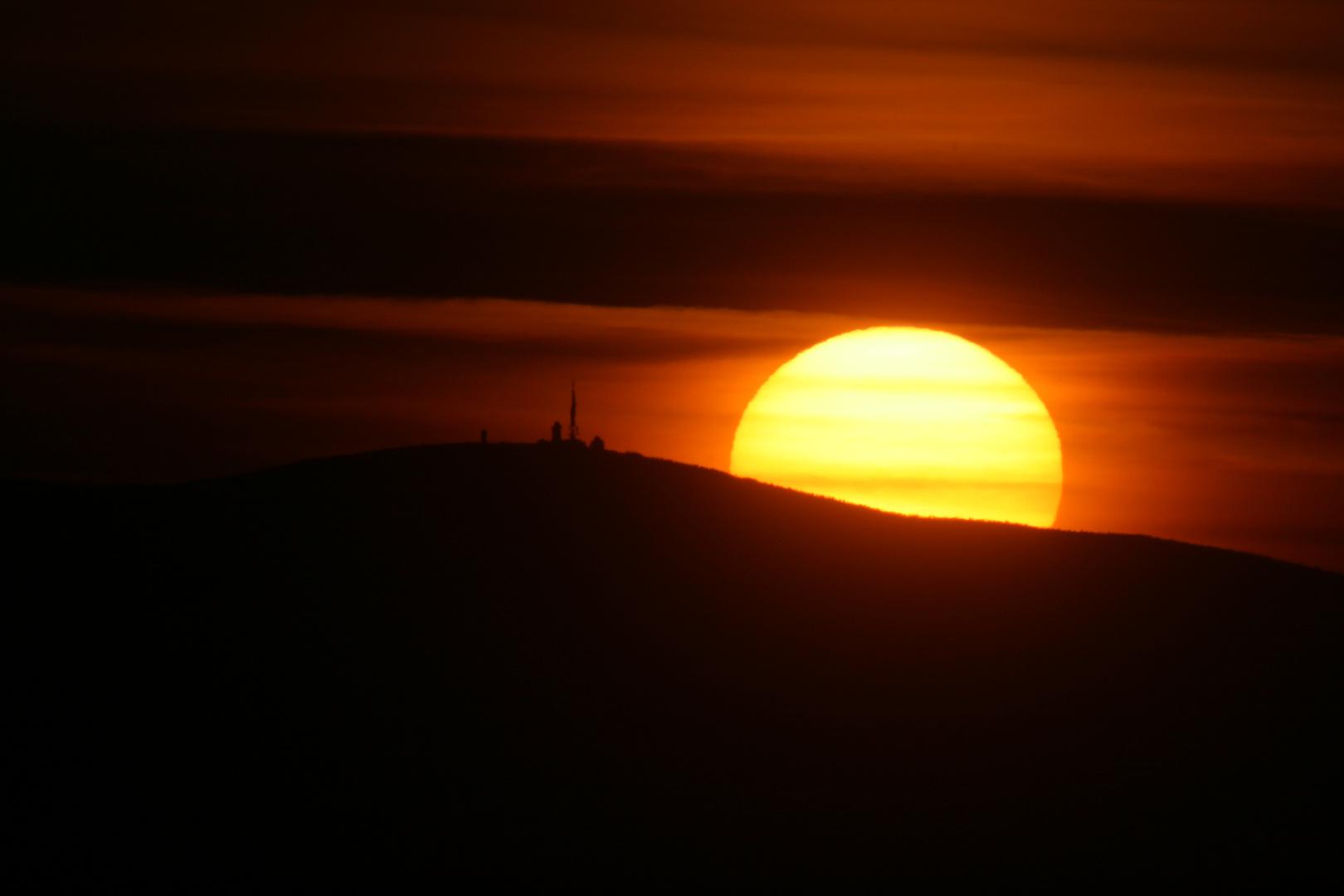 Sonnenuntergang am Brocken
