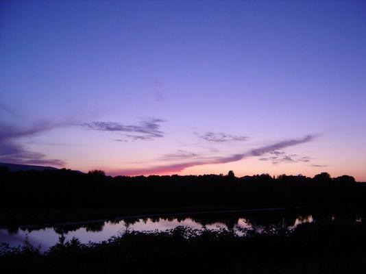 Sonnenuntergang am Buga-See in Kassel