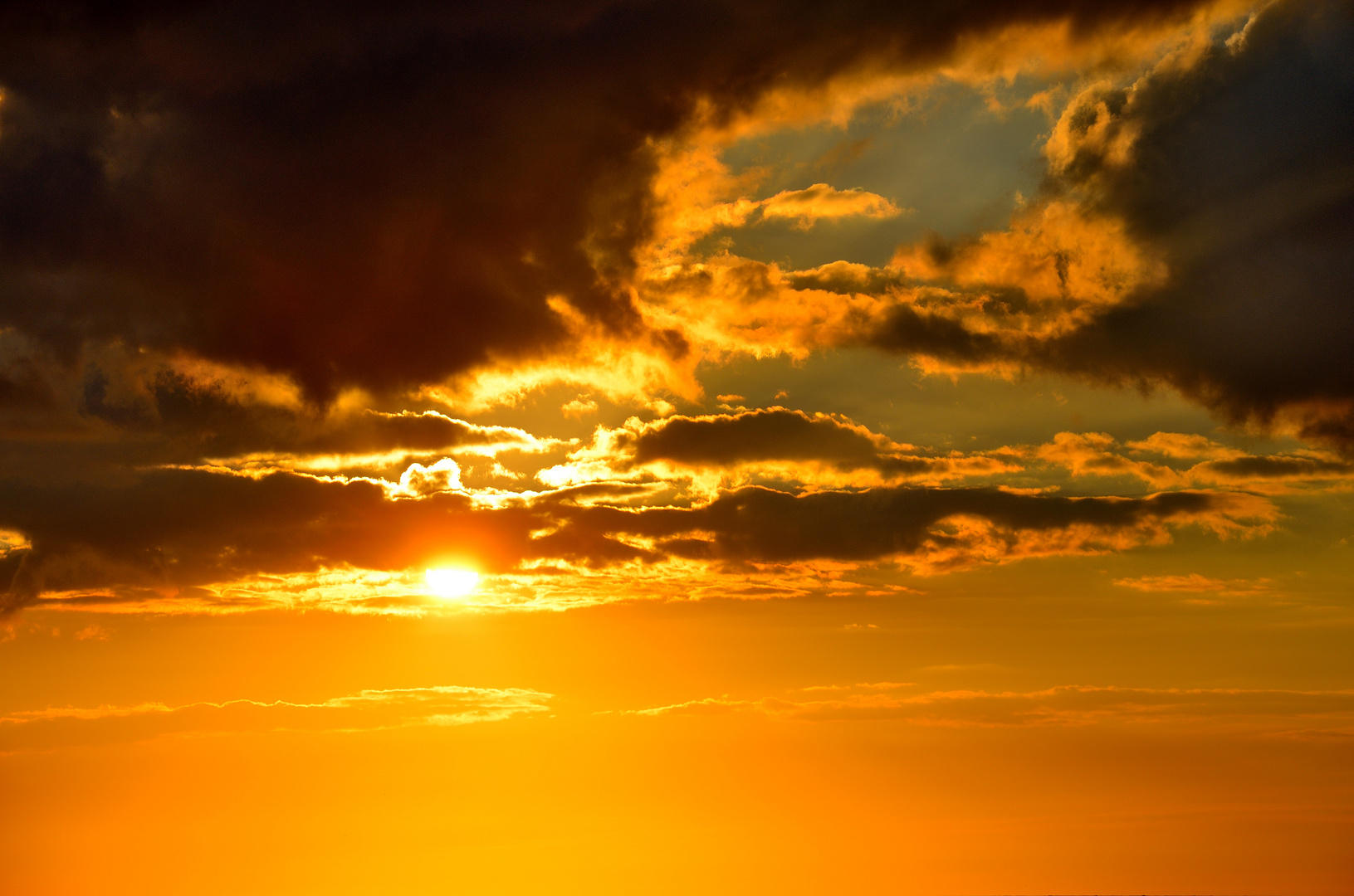 Sonnenuntergang am Bulbjerg-Knude Dänemark
