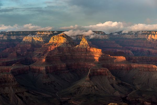 Sonnenuntergang am Canyon