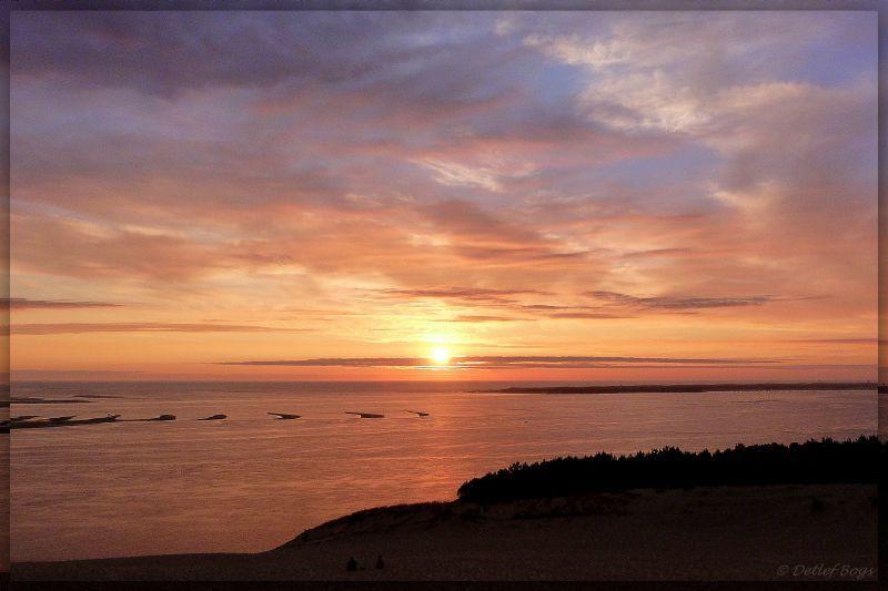 Sonnenuntergang am Cap Ferret