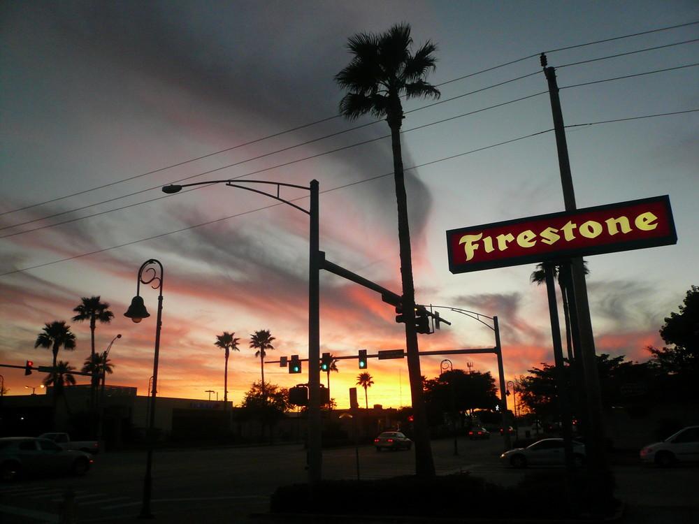 Sonnenuntergang am Cape Coral Parkway/Florida/USA