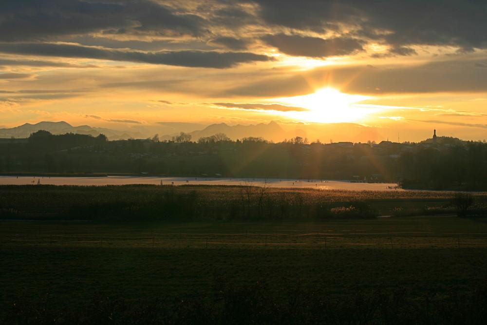 Sonnenuntergang am Chiemsee Neue Version