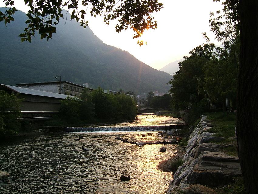 Sonnenuntergang am Comer See