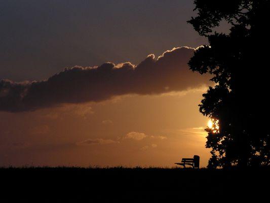 Sonnenuntergang am Deich