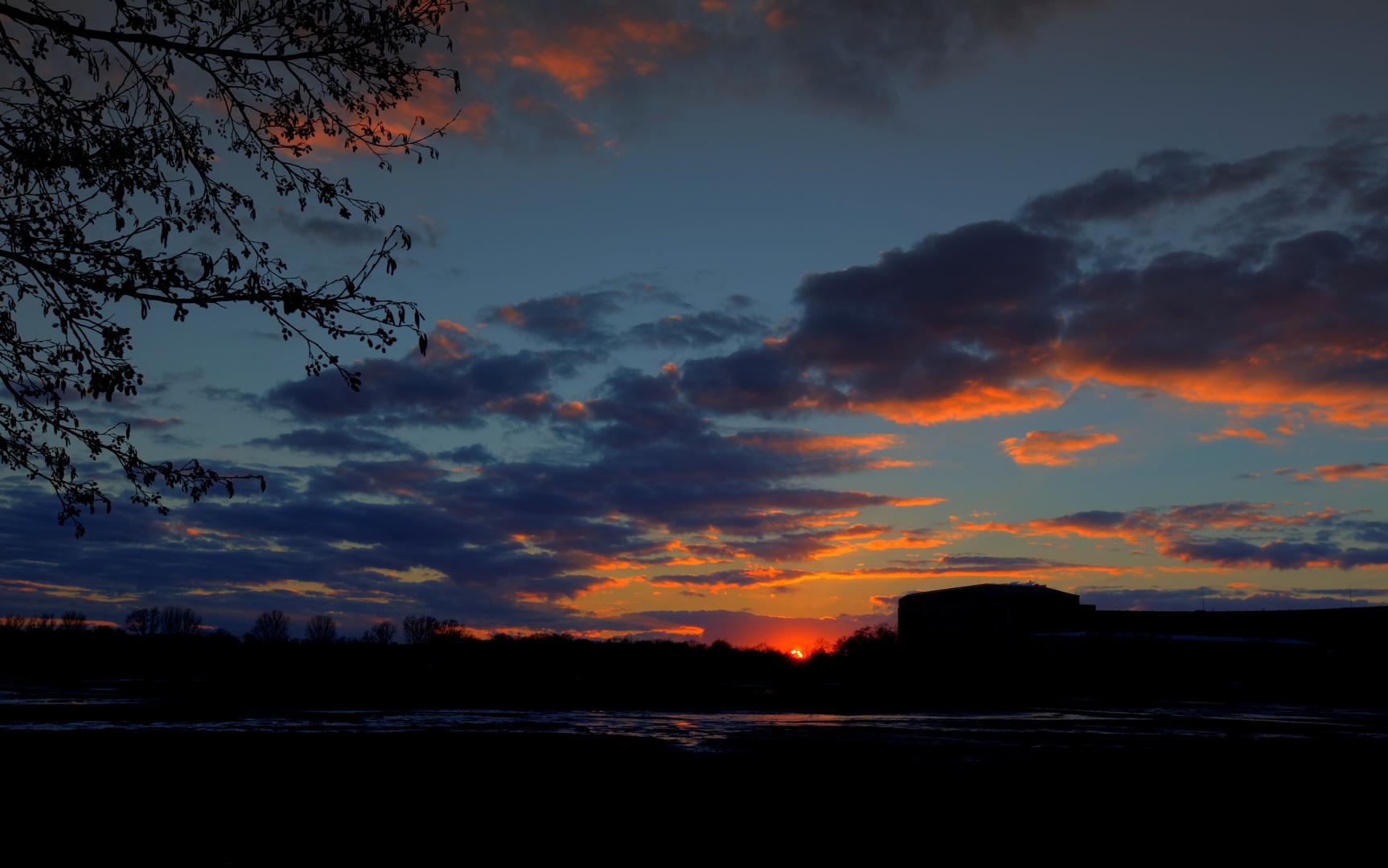 Sonnenuntergang am Dutzendteich