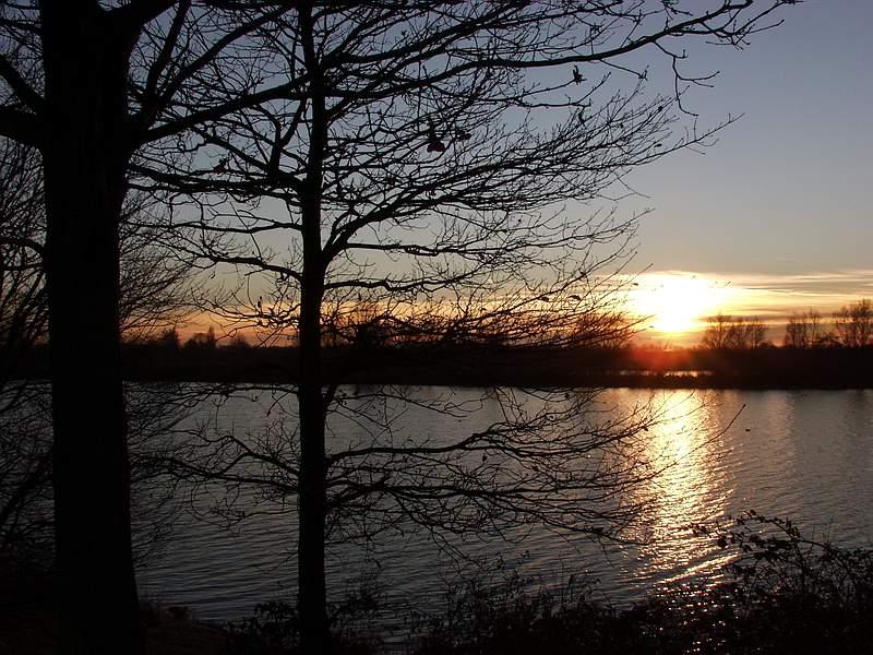 Sonnenuntergang am Elfrathersee-II