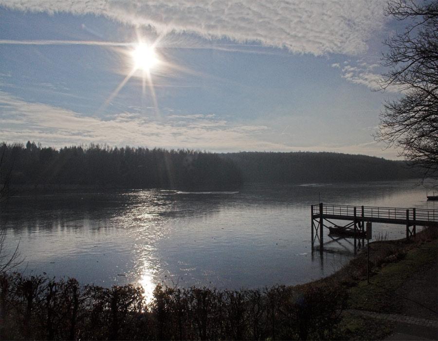 Sonnenuntergang am Ellertshäuser See