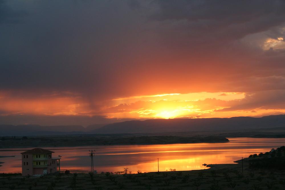 Sonnenuntergang am Euphrat