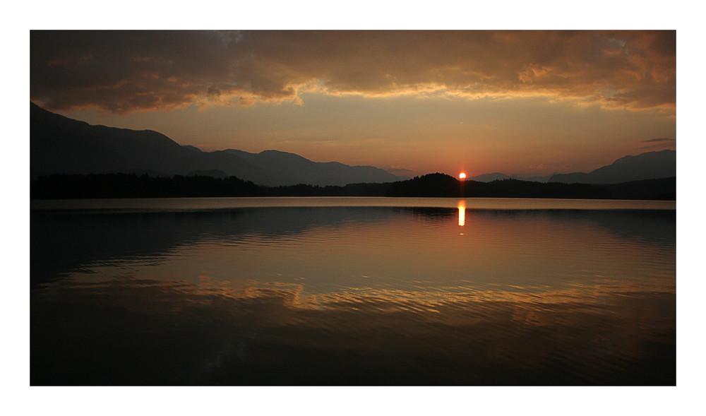 Sonnenuntergang am Faakersee