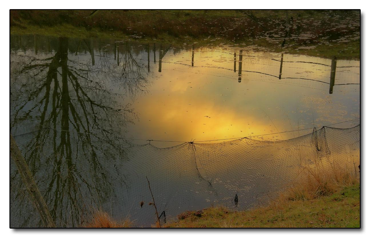 Sonnenuntergang am Fischerteich