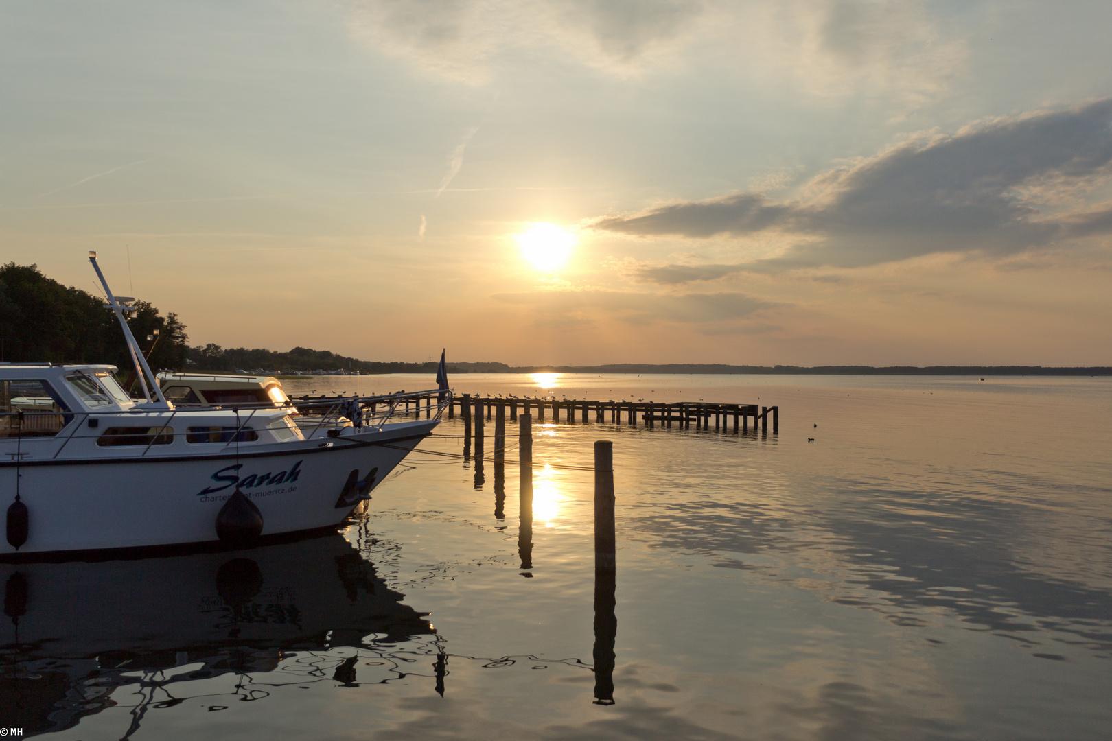 Sonnenuntergang am Fleesensee